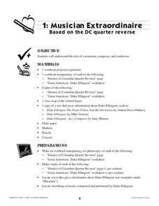 Musician Extraordinaire Based on the DC Quarter Reverse Lesson Plan