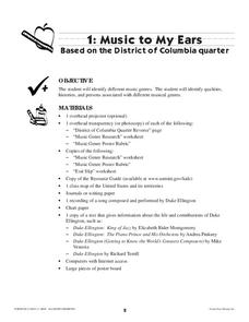Music To My Ears: The District of Columbia Quarter Lesson Plan