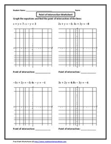 points of intersection worksheets reviewed by teachers. Black Bedroom Furniture Sets. Home Design Ideas