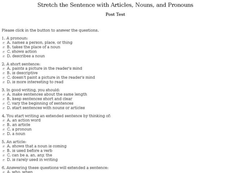 Varying Sentence Length Lesson Plans Worksheets: Varying Sentence Length Worksheet At Alzheimers-prions.com