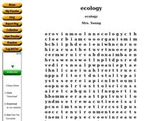 Ecology Worksheet
