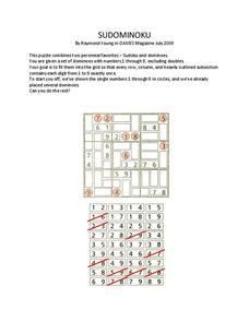 Algebra Sudoku Lesson Plans Worksheets Reviewed By Teachers