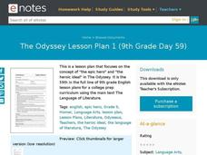 The Odyssey Lesson Plan 1 (9th Grade Day 59) Lesson Plan