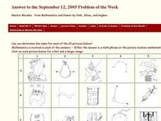Mathematical Wackie Wordies Worksheet