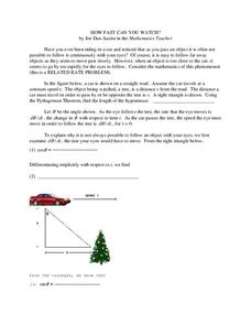 How Fast Can You Watch? Worksheet