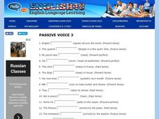 Using the Passive Voice Interactive