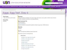 Eggs, Egg Test, Day 6 Lesson Plan
