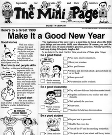 The Mini Page: Make It a Good New Year Handouts & Reference