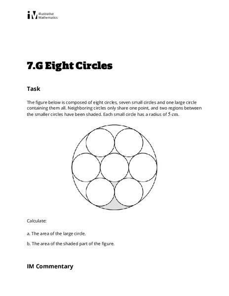 Eight Circles Lesson Plan for 6th - 9th Grade | Lesson Planet