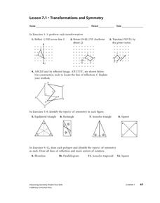geometry practice transformations isometries and tessellations worksheet for 9th 12th grade. Black Bedroom Furniture Sets. Home Design Ideas