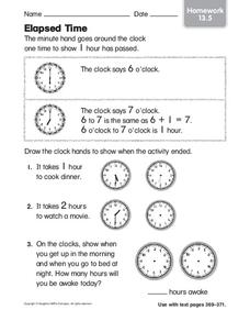 Elapsed Time Worksheet