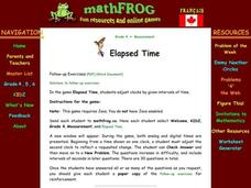 Elapsed Time Lesson Plan