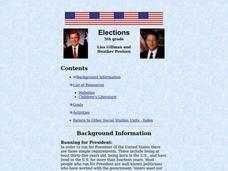 Elections Lesson Plan