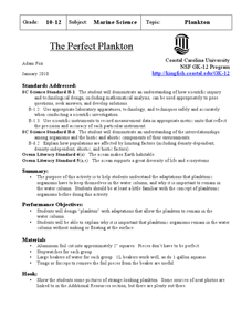 The Perfect Plankton Lesson Plan