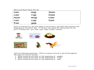 Letter and Word Review Worksheet