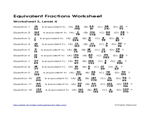 equivalent fractions worksheet 3 level 4 worksheet for 4th 6th grade lesson planet. Black Bedroom Furniture Sets. Home Design Ideas