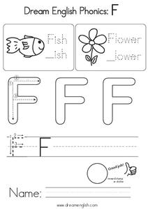 Dream English Phonics: F Worksheet