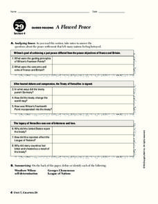 A Flawed Peace Worksheet