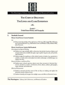 The Corps of Discovery: The Lewis and Clark Expedition Lesson Plan