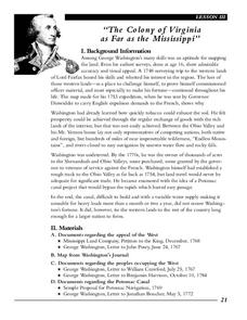 """The Colony of Virginia as Far as the Mississippi"" Lesson Plan"