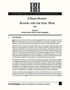 A House Divided: Slavery and the Civil War Lesson Plan