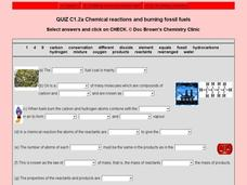 Chemical Reactions and Burning Fossil Fuels 9th - 12th Grade ...