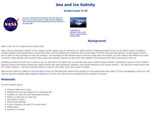 Sea and Ice Salinity Lesson Plan