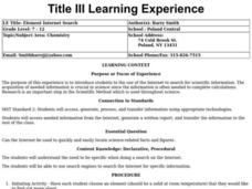 Element Internet Search Lesson Plan