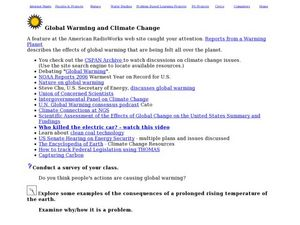 Global Warming and Climate Change Lesson Plan