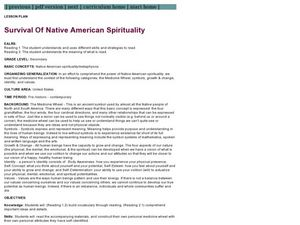 Survival Of Native American Spirituality Lesson Plan