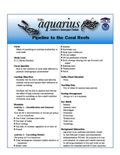 Pipeline to the Coral Reefs Lesson Plan
