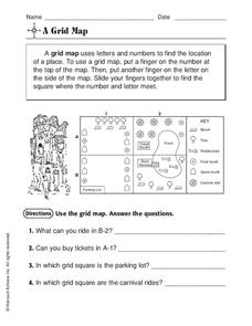 A Grid Map Worksheet