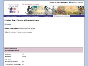 Life in a Box - Famous African Americans Lesson Plan
