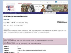 Movie Making: American Revolution Lesson Plan
