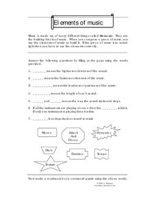 Elements of music Worksheet