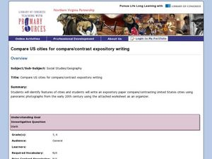 Compare US Cities for Compare/Contrast Expository Writing Lesson Plan