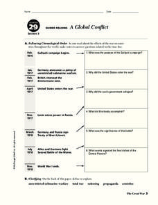 A Global Conflict Worksheet