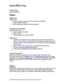 Ellipse Lesson Plan