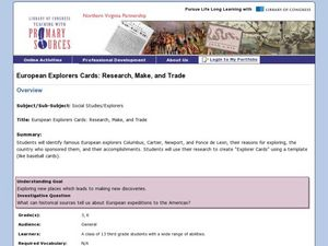 European Explorers Cards: Research, Make and Trade Lesson Plan
