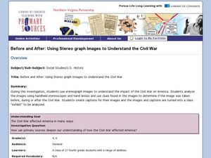 Before and After: Using Stereo Graph Images to Understand the Civil War Lesson Plan