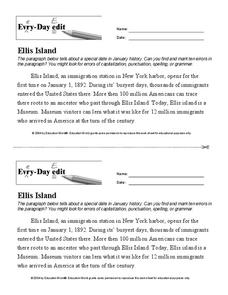 Ellis Island Worksheet