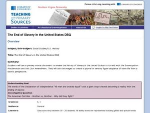 The End of Slavery in the United States DBQ Lesson Plan