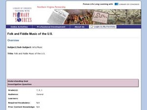 Folk and Fiddle Music of the U.S. Lesson Plan