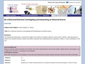 Be a Historical Detective! Investigating and Interpreting a Historical Source Lesson Plan