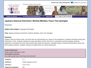Japanese American Internment: Wartime Mistakes, Peace Time Apologies Lesson Plan