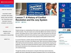 A History of Conflict Resolution and the Jury System Lesson Plan