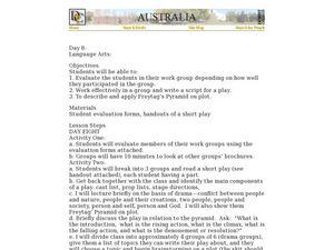 Australia: Scriptwriting Lesson Plan for 6th - 8th Grade