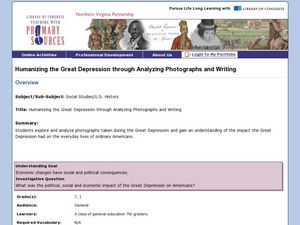 Humanizing the Great Depression through Analyzing Photographs and Writing Lesson Plan