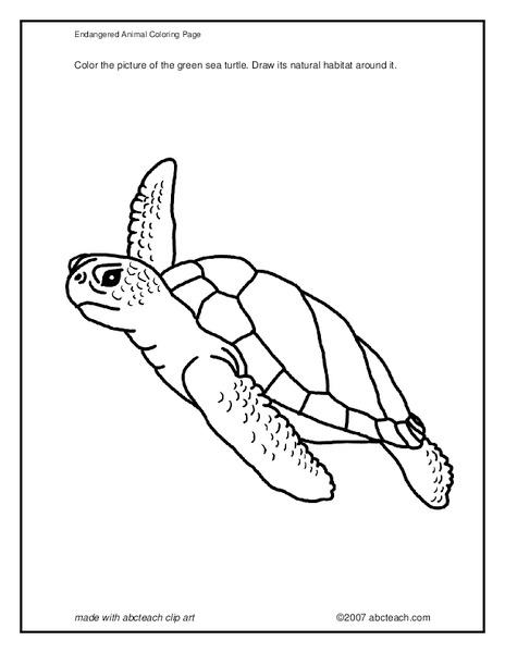 endangered animal coloring page worksheet for pre k 2nd grade lesson planet. Black Bedroom Furniture Sets. Home Design Ideas