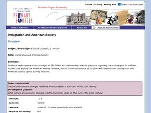 Immigration and American Society Lesson Plan